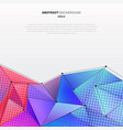 abstract 3d low polygon shape colorful with vector image
