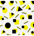 abstract yellow and black geometric circle vector image vector image