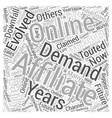 Are Affiliates in Demand Word Cloud Concept vector image vector image