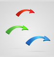 arrows set 3d style vector image