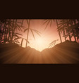 bamboo against sunset sky vector image vector image