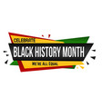black history month banner design vector image vector image