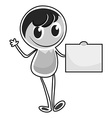 Boy character standing alone vector image vector image