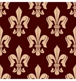Brown and beige french lilies seamless pattern vector image vector image