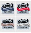 car wash logo design artwork workers washing vector image