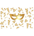 carnival party luxury golden carnival mask vip vector image