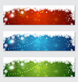 christmas and new year colorful banners vector image