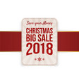 christmas big sale badge vector image vector image