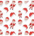 christmas santa claus face hat celebration vector image
