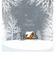 christmas winter landscape with a house in the for vector image vector image