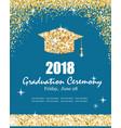 class 2018 graduation ceremony banner vector image