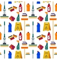 Cleaning service seamless pattern House tools vector image