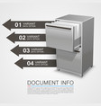 closet safe with documents info vector image