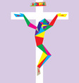 Cross with Modern Corpus vector image vector image