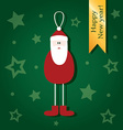 Cute Christmas cards depicting Santa Claus vector image vector image