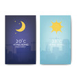 day and night landscape vector image vector image