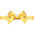 decorative golden bows vector image vector image