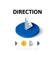 Direction icon in different style vector image vector image