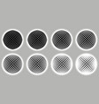 dotted striped spheres set vector image