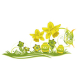 Easter eggs spring vector image vector image