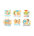 educational and teacher day labels and badges vector image