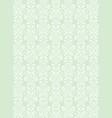 elegant white flowers pattern textured green vector image vector image