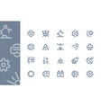 engineering and technology icons line series vector image vector image