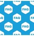 FAQ hexagon pattern vector image