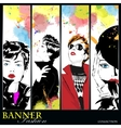 Fashion banner vector image