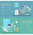 flat banners dental office with seat and vector image vector image