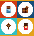 flat icon sweet set of cocoa delicious chocolate vector image vector image