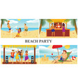 flat summer beach vacation composition vector image vector image