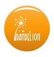 forest dandelion logo icon orange vector image