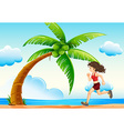 Girl and beach vector image
