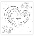 Gray scale sketch Heart vector image vector image