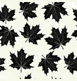 grunge background with black leaves vector image vector image