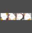 hand darwn abstract creative social media post vector image vector image