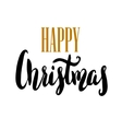 Happy Christmas Hand drawn lettering on light vector image vector image
