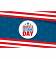 happy veterans day concept background flat style vector image vector image
