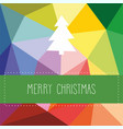 holidays card with christmas tree vector image
