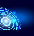 hud futuristic element circle abstract digital vector image vector image