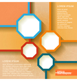 Infographics geometrical abstract background vector image