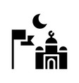 islamic community ramadan related solid icon vector image vector image