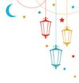 Islamic Postcard for Ramadan Kareem vector image vector image