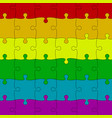 lgbt pride background colored puzzles pieces vector image vector image