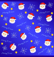 lovely christmas background vector image vector image