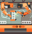 manufacturing assembly conveyor production line vector image vector image