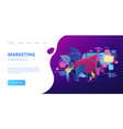 marketing concept landing page vector image vector image