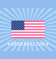 memorial day american flag on sun rays background vector image vector image