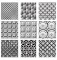 monochrome pattern set vector image vector image